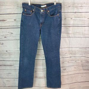Levi's 505 Straight Leg Jeans size 10 Dark Wash